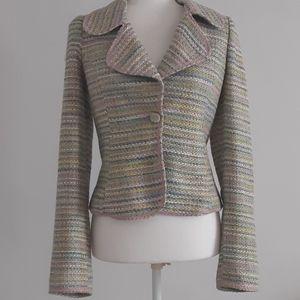 Ingwa Melero tweed jacket sz 8 pink multicolored